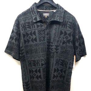 Quiksilver Men's Short Sleeve Printed Shirt Sz L